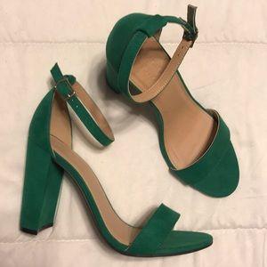 NWOT Green heels
